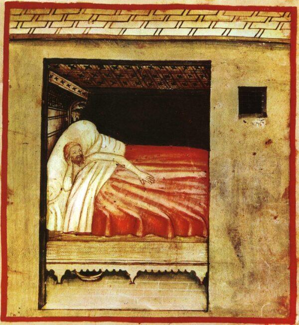 Una representación del insomnio del Siglo XIV