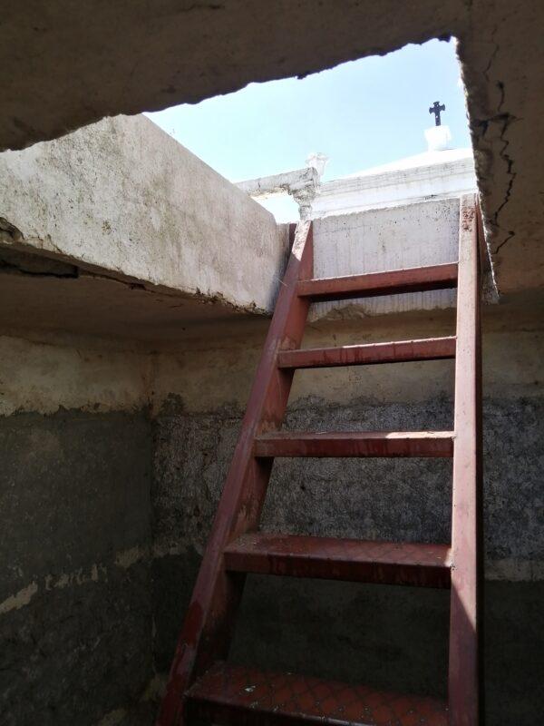 La fosa subterránea del cementerio de San Pedro